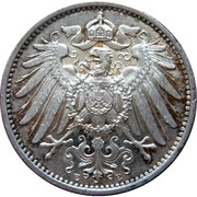 1 Mark Wilhelm II type grand aigle (avers)