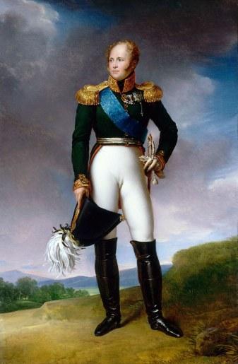 Portrait d'Alexandre Ier de Russie.