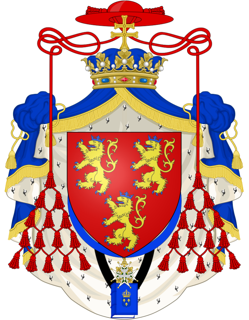 Armoiries de monseigneur Alexandre Angélique de Talleyrand-Périgord, cardinal, archevêque-duc de Reims (1777-1816).