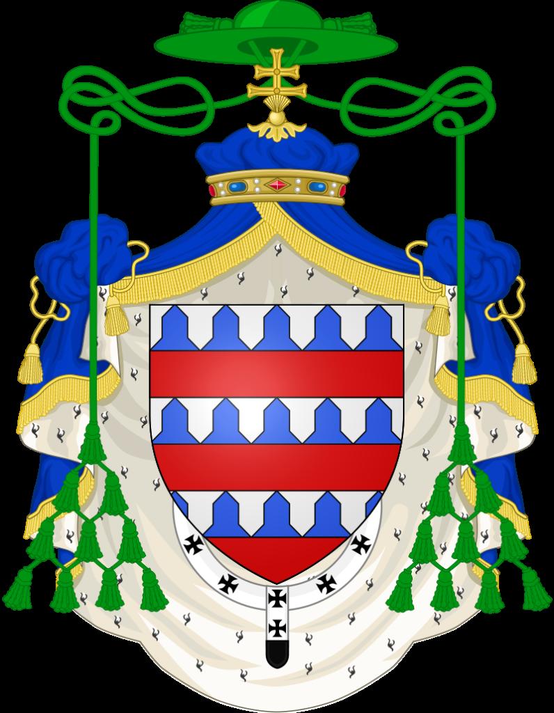 Armoiries de monseigneur Jean-Charles de Coucy, archevêque de Reims (1817-1824).