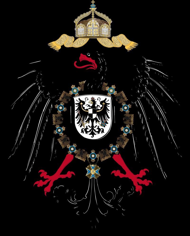 Armoiries du Reich allemand entre 1889 et 1918.