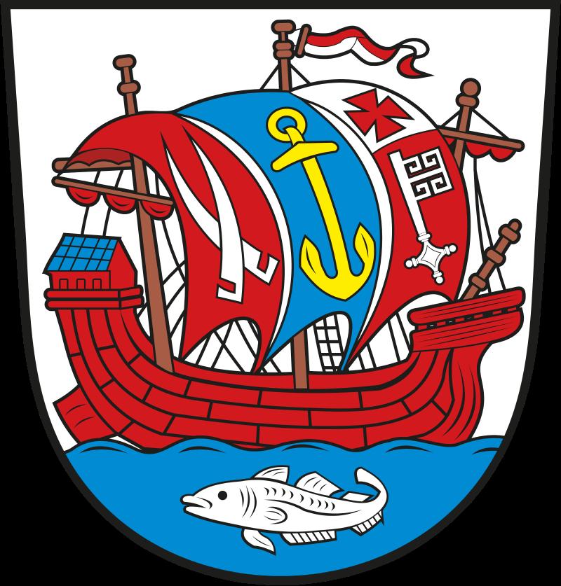 Blason communal de Bremerhaven (Allemagne), dont le nom signifie « port de Brême ».