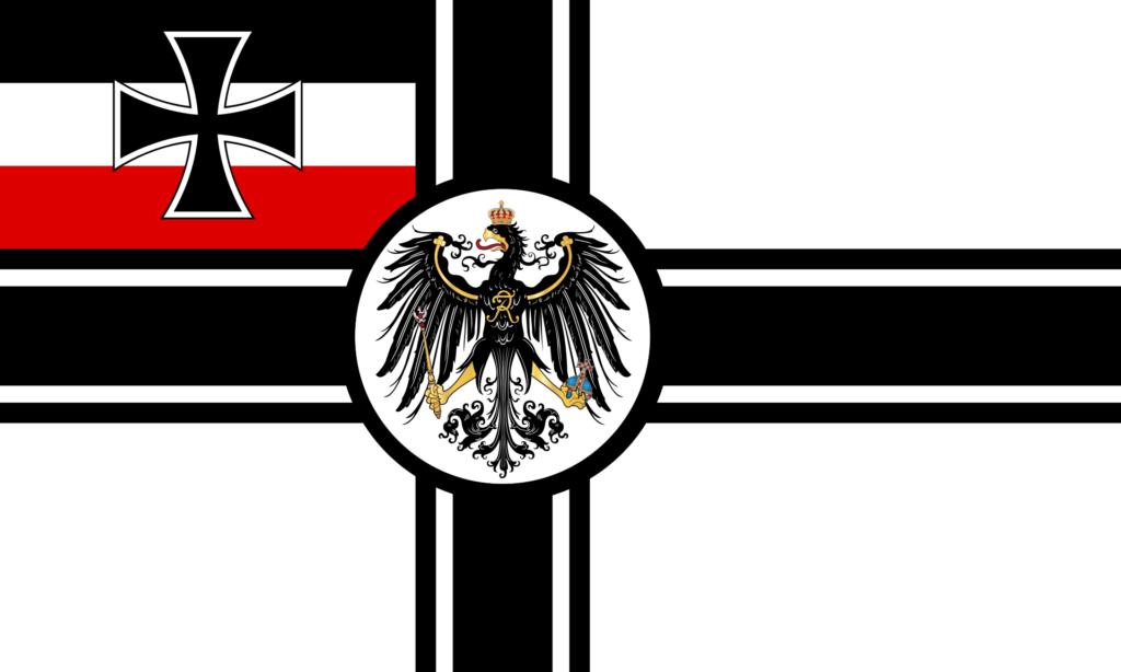 Drapeau de guerre (Kriegsflagge) de l'Empire allemand.