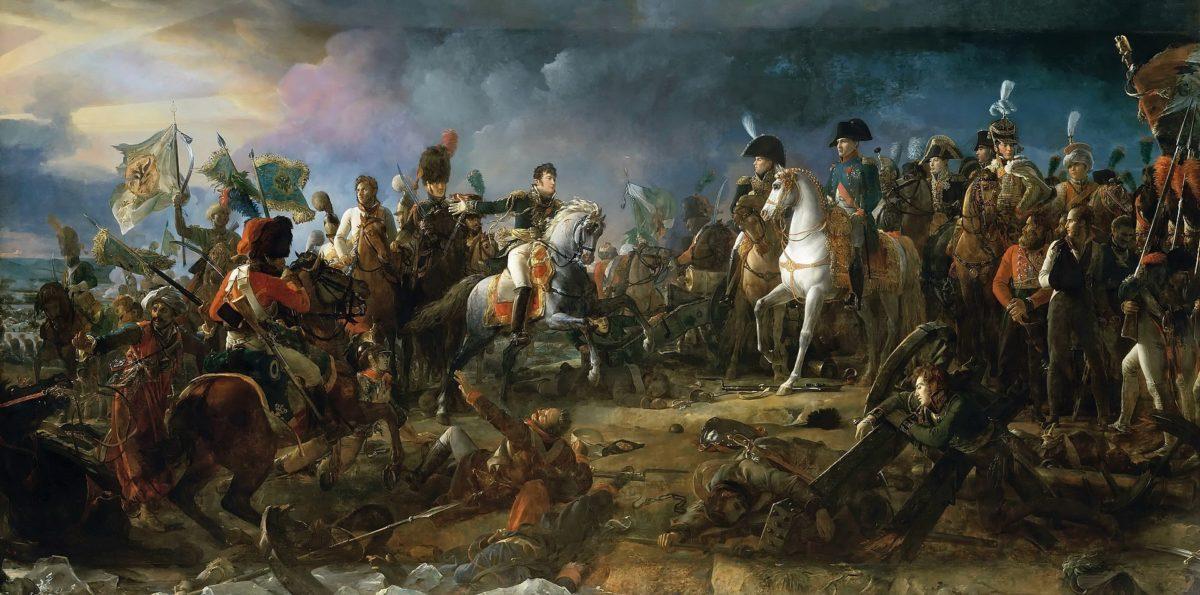 Napoléon à la bataille d'Austerlitz par François Gérard.