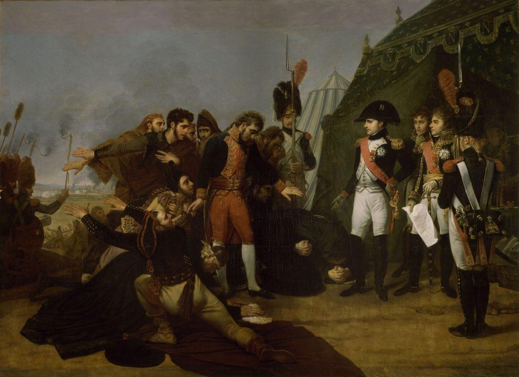 Napoléon recevant la capitulation de Madrid le 4 décembre 1808 par Antoine-Jean Gros (1810).