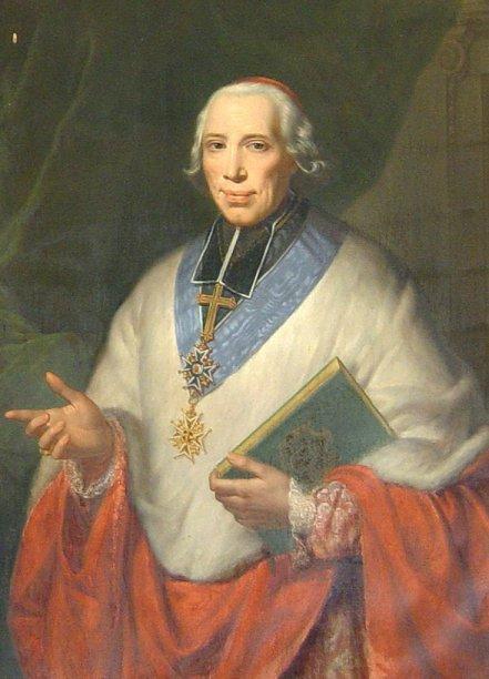 Portrait de monseigneur Alexandre Angélique de Talleyrand-Périgord, cardinal de la Sainte Église romaine, archevêque-duc de Reims (1777-1816).