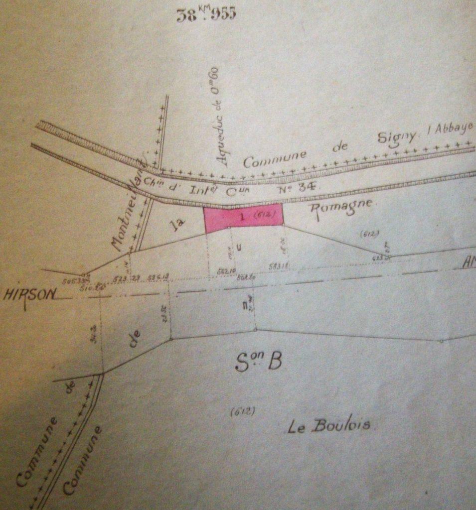 Emprise du chemin de fer de La Romagne, ligne Hirson – Amagne.