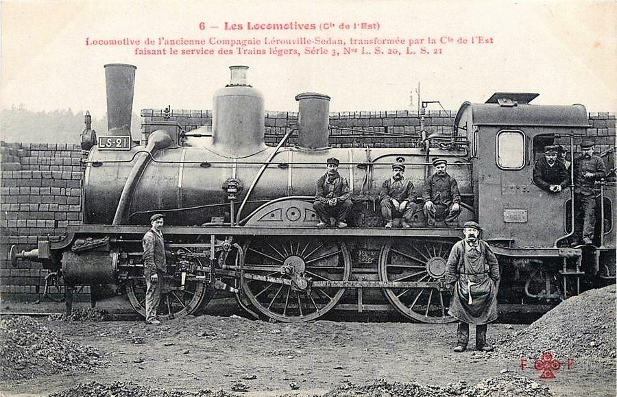 Locomotive de l'ancienne Compagnie Lerouville-Sedan, transformée par la Compagnie des chemins de fer de l'Est.