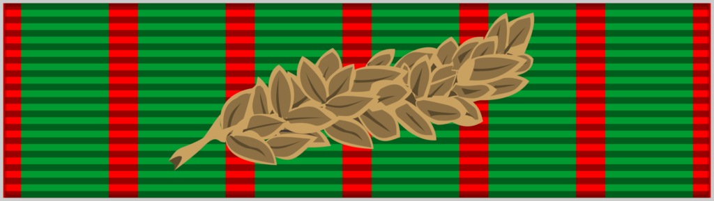 Barrette Dixmude de la croix de guerre 1914-1918 (palme de bronze).