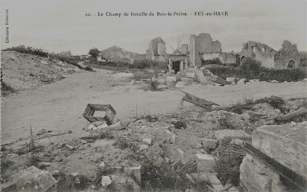 Bois-le-Prêtre en Meurthe-et-Moselle (Priesterwald pour les Allemands) est un lieu emblématique pour la violence de ses combats (proximité des lignes adverses, combats au corps-à-corps, utilisation de lance-flammes et de gaz de combat et recours au fourneau  de mine pour les explosifs).