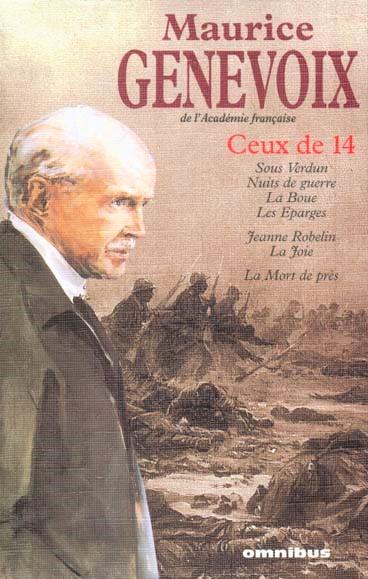 Couverture du livre Ceux de 14 (Maurice Genevoix).