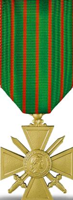 Croix de guerre 1914-1918 (avers).