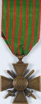 Croix de guerre 1914-1918 (revers).