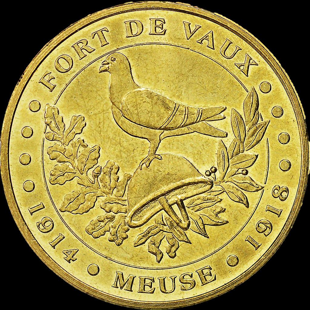 Le fort de Vaux est aujourd'hui un lieu mémoriel (jeton frappé par la Monnaie de Paris).