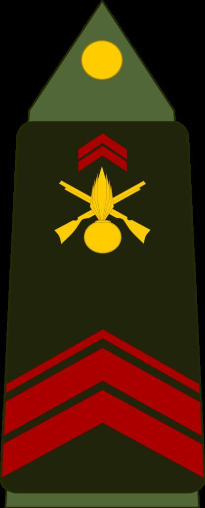 Grade de caporal ou brigadier.