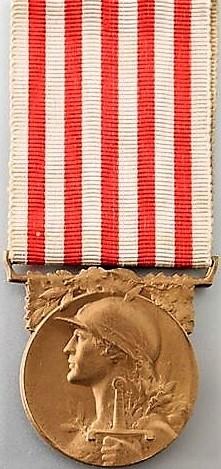 Médaille commémorative de la guerre 1914-1918 (avers).