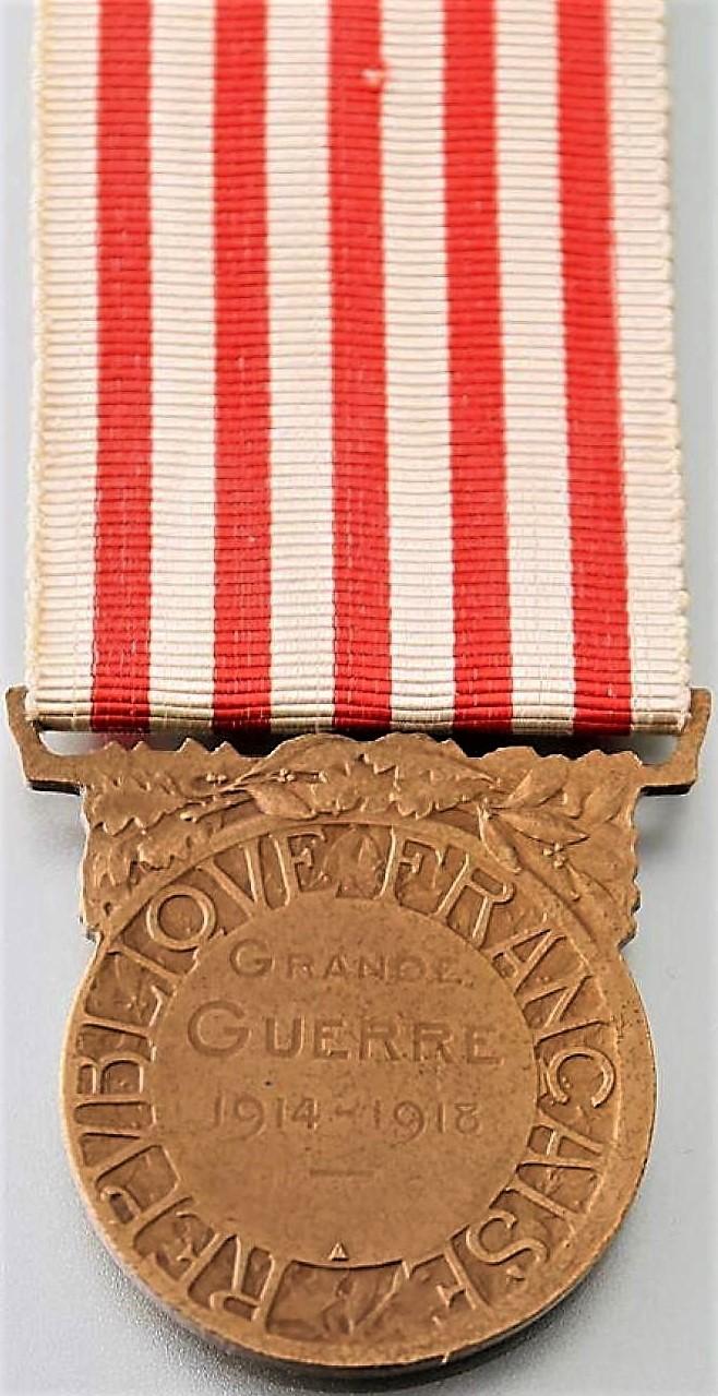 Médaille commémorative de la guerre 1914-1918 (revers).