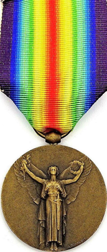 Médaille interalliée commémorative de la première guerre mondiale dite de la victoire (avers).