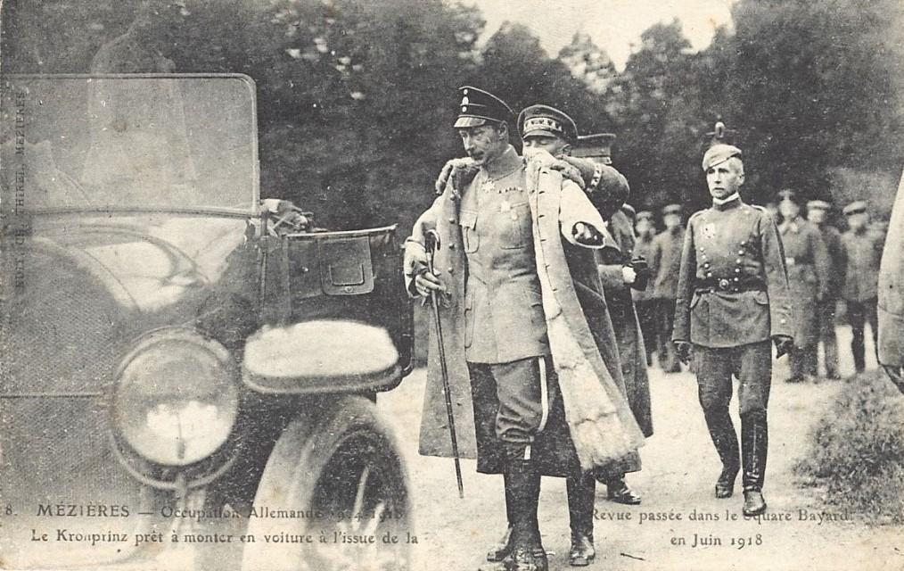 Le Kronprinz (prince héritier) a dirigé l'occupation des Ardennes en 1914-1918 depuis son quartier général à Charleville.
