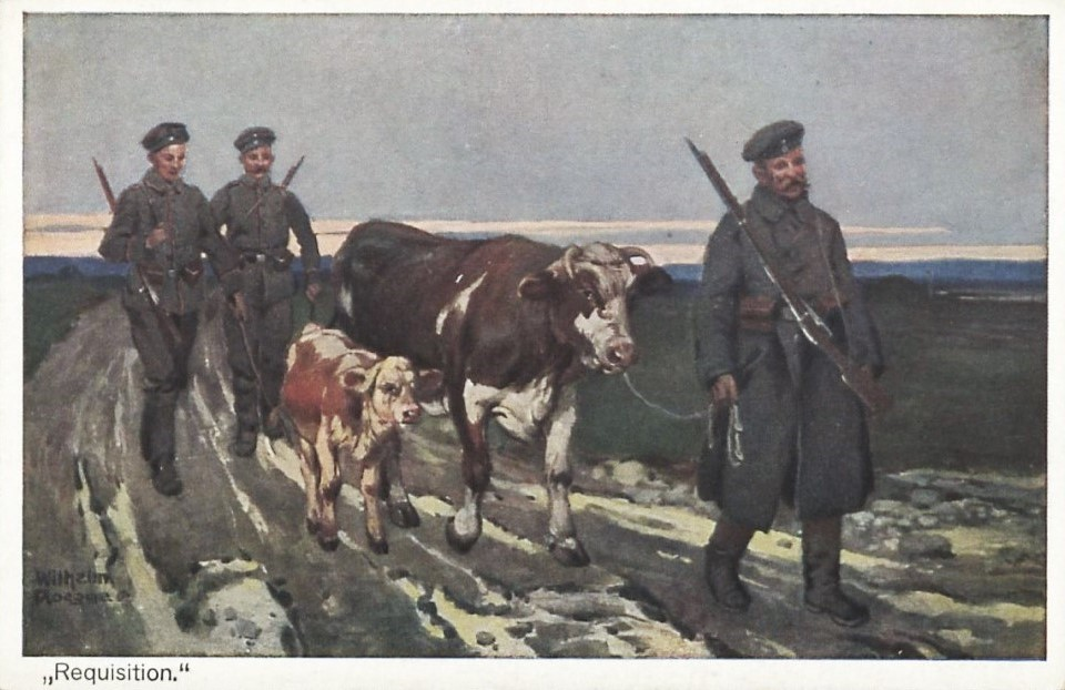 Carte illustrée allemande de 1914-1918 par Wilhelm-Rögge (1870-1946).