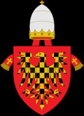 Armoiries ecclésiastiques d'Innocent III, de Grégoire IX et d'Alexandre IV.