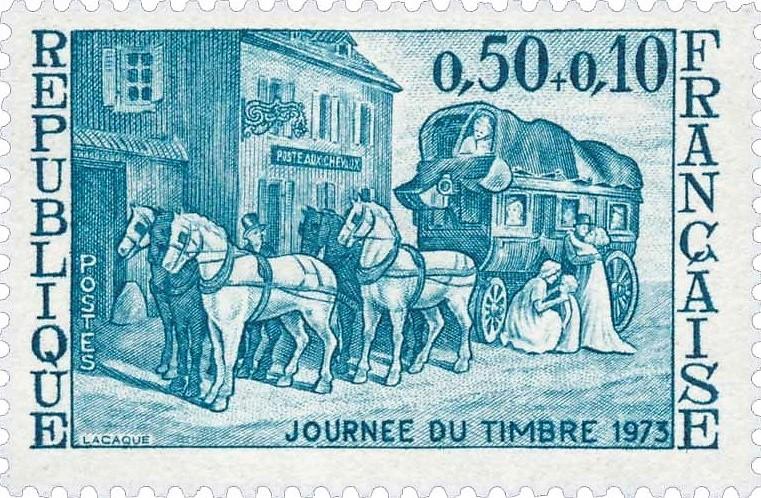 Un relais de poste (journée du timbre du