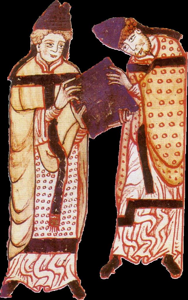 Saint Norbert recevant les règles augustiniennes de saint Augustin. Au XIIe siècle, une communauté norbertienne de l'abbaye de Cuissy s'est installée à Gerigny avec une donation sur les terres de Givron et de Draize.
