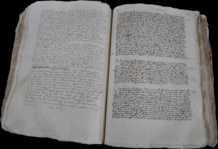 Archives départementales des Ardennes, 1J 1224, Cartulaire de l'abbaye Saint-Berthauld de Chaumont contenant des actes de 1087 à 1543, pièce de 1543 remise par monsieur Jacques Lucas avec le soutien de l'ASPP (Association de Sauvegarde du Patrimoine du Portien) le 4 novembre 2009, signalé en ligne.