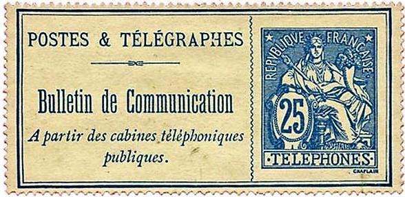 Le service des postes & télégraphes vend des bulletins de communication à partir des cabines publiques.