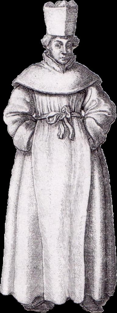 Prémontré, détail d'une gravure de Wenceslas Hollar (1607-1677).