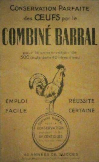 Musée de la Vie rurale (Steenwerck), numéro d'inventaire 2018.0.00112, carton de conservateurs pour œufs, combiné Barral, notice consultable en ligne sur le portail de l'association Proscitec (patrimoine et mémoires des métiers).
