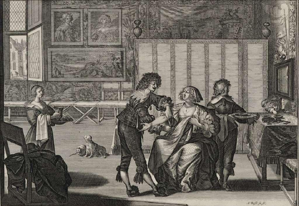Bosse, Abraham (graveur), la Saignée. scène de genre, eau-forte et burin, 1632, consultable en ligne sur le portail des expositions virtuelles de la Bibliothèque nationale de France.