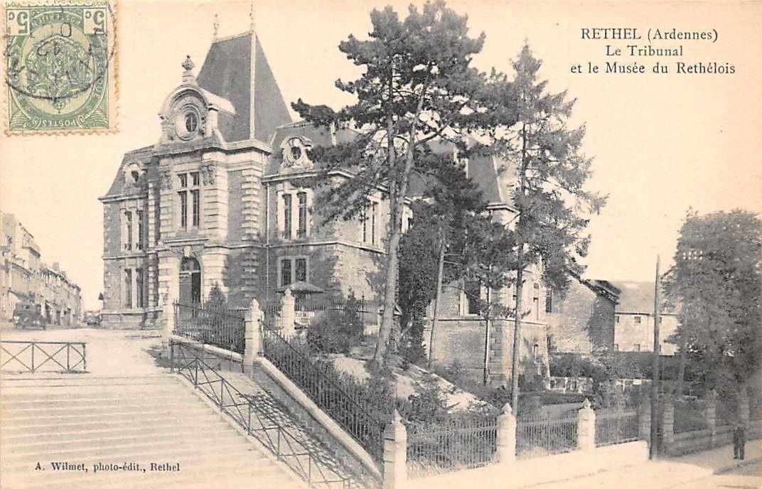 Tribunal de Rethel et musée du Rethélois, carte postale ancienne.