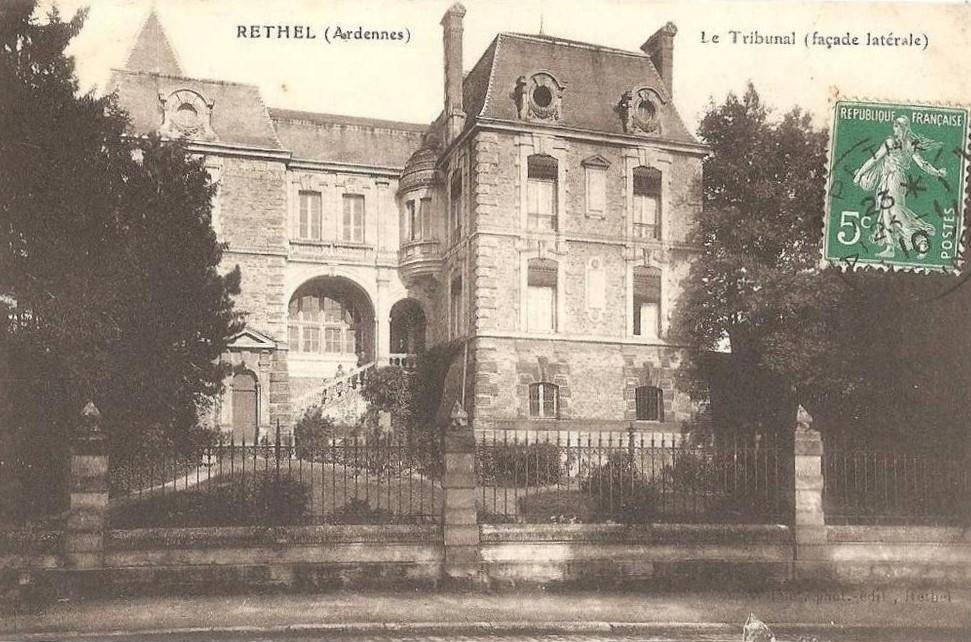 Tribunal de Rethel (Ardennes), carte postale ancienne.